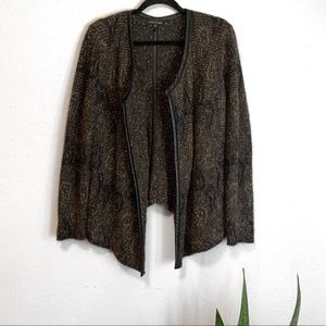 Eileen Fisher Mohair Blend Boucle Style Cardigan